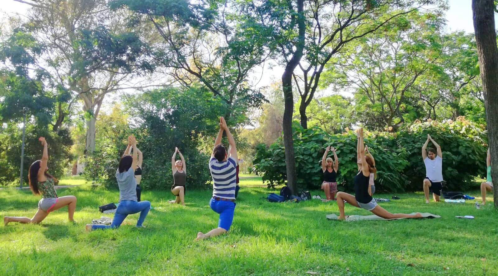 Valencia_Yoga en el parque
